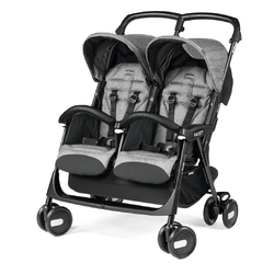 Коляска для двойни Peg Perego Aria Shopper Twin Cinder