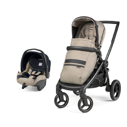 Коляска 2 в 1 Peg Perego Team SL Travel System Luxe Ecru