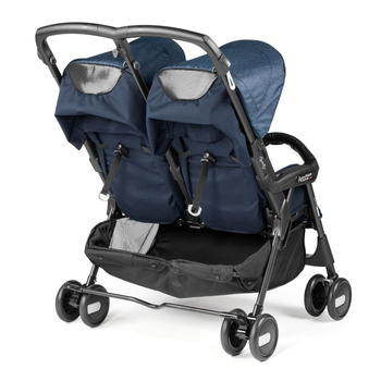 Коляска для двойни Peg Perego Aria Shopper Twin Indigo